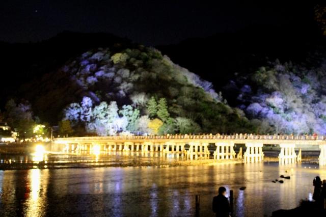 嵐山花灯路渡月橋